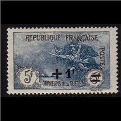 France #B19 MINT LH  DARK BLUE SHADE