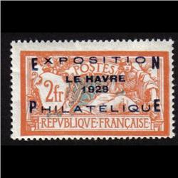 France MINT #246 F-VF LH (Yvert #257A) CAT675€  *OVERPRINTED EXPOSITION LE HAVRE 1929 PHILATELIQUE*