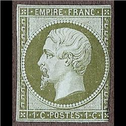 France MINT #12 (Yvert#11) CAT215€     STAMP HAS A SMALL THIN