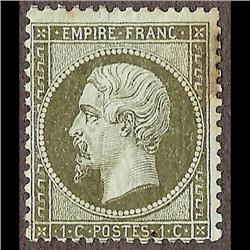 France MINT #22a (Yvert #19a) F-VF LH ---- STAMP HAS MINOR FOLD AND TONED AT UR   CAT185€