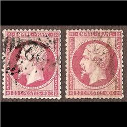 France USED #28 (Yvert #24-24a) VF USED  CAT107€