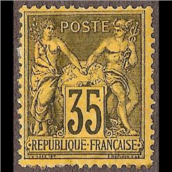 France MINT #94 (Yvert #93) F-VF LH CAT690€    STAMP HAS TWO MINOR PAPER SPOT ON BACK
