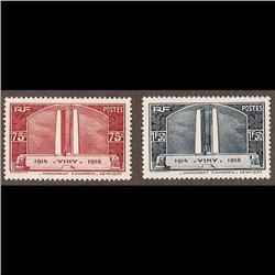 France MINT #311-312 XF NH SELECT (Yvert #316-317) CAT62€