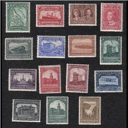 NEWFOUNDLAND #145 to 159 VF-XF-NH SET