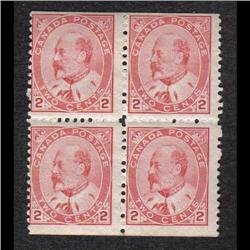 #90b F-VF BOOKLET BLOCK 4 C$1500,00