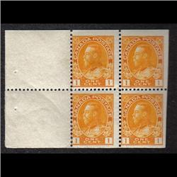#105a NH BOOKLET PANE OF 4 C$100,00