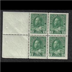 #107b VF-NH BOOKLET PANE OF 4 C$192,00