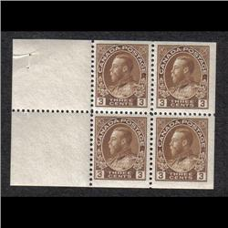 #108a VF-NH BOOKLET PANE OF 4 C$240,00