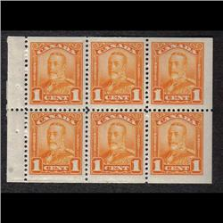 #149a-150a VF-NH BOOKLET PANE OF 6 C105