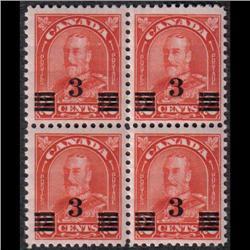 #191+ 191a VF-NH BLOCK OF 4