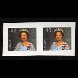 #1358i XF-NH JUMBO IMPERF PAIR QUEEN *SCARCE* C$1200.00