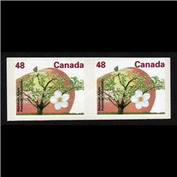 #1363i XF-NH JUMBO IMPERF PAIR APPLE *SCARCE* C$1250.00