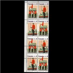 #692-93c XF-NH VERTICAL BLOCK OF 8, IMPERF HORIZ.*RARE*