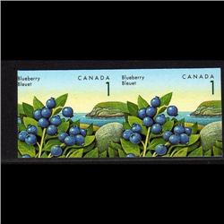 CANADA #1349iii XF-NH IMPERF SCARCE PAIR BLUEBERRY