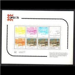 #1 CAPEX 78 (SET OF 3 NUMBER 09877) PHILATELIC EXHIBITION CARDS