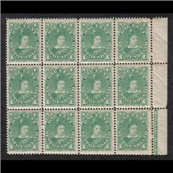 NEWFOUNDLAND #44 XF-NH BLOCK OF 12 WITH INSCRIPTION