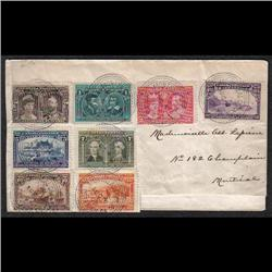 #96-103 ON COVER DATED AUGUST 4, 1908 SCARCE