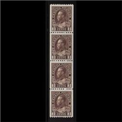 #134 XF-NH SELECT ADMIRAL STRIP OF 4 PERF 12 HORIZONTAL