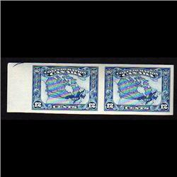 CANADA #145a XF-NH IMPERF PAIR *ARROW HEAD GUIDE LINE*