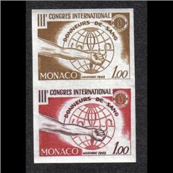 MONACO #510 XF-NH IMPERF PAIR TRIAL COLOR
