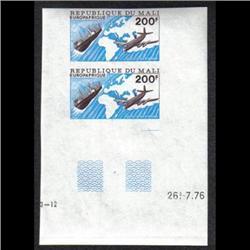 MALI #C289 XF-NH IMPERF AIRMAIL PAIR