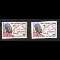 FRENCH WEST AFRICA CERES #74 VF-NH IMPERF