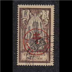 FRENCH INDIA #230D XF-USED OVERPRINTED