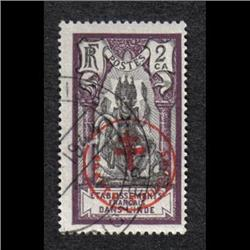 FRENCH INDIA #230E XF-USED OVERPRINTED