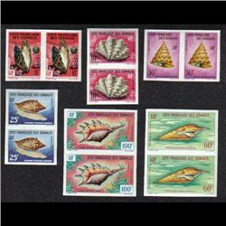FRENCH SOMALIS CERES#311-14, 31-2 XF-NH IMPERF PAIR