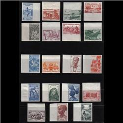 FRENCH AFRICA CERES#24-42 XF-NH IMPERF MARGIN SET
