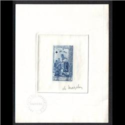 LAOS #85 PROOF SIGNED BY ARTIST BLUE COLOR