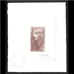 LAOS #107 PROOF SIGNED BY ARTIST PALE BROWN COLOR