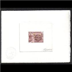 LAOS #110 PROOF SIGNED BY ARTIST RED LILAC COLOR