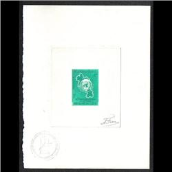 LAOS #115 PROOF SIGNED BY ARTIST GREEN COLOR