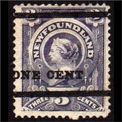 NEWFOUNDLAND #75 VF-LH MINT  CAT$75,00