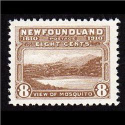 NEWFOUNDLAND #93 XF-LH MINT  CAT$80,00