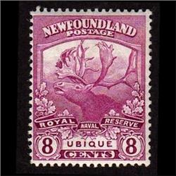 NEWFOUNDLAND #121 VF-LH MINT  CARIBOU C