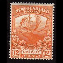 NEWFOUNDLAND #123 VF-LH MINT  CARIBOU C