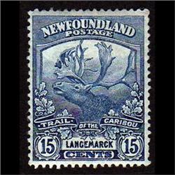 NEWFOUNDLAND #124 VF-LH MINT  CARIBOU C