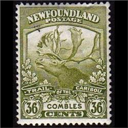NEWFOUNDLAND #126 XF-LH MINT  CARIBOU C