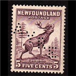 NEWFOUNDLAND #190 XF-NG SELECT PERFIN V
