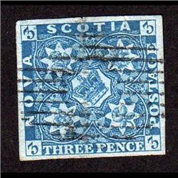 NEW SCOTIA #2i VF USED BRIGHT BLUE SHAD