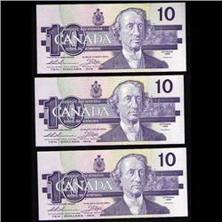1989 OTTAWA TEN DOLLARS FOLLOWING NUMBE