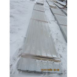 50 Sheets-  (Total of 3684 Sq FT) (2 Lots) All Grey Sheet Metal - 30 ) Sheets  -3' x 24.5' = 2208 Sq