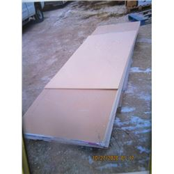 "34 Pcs (4 Lots) 1/2"" Drywall -One Money For All! 13) 1/2"" x 4' x 14', 9) 1/2"" x 4' x 8', 8) 1/2"" x 4"
