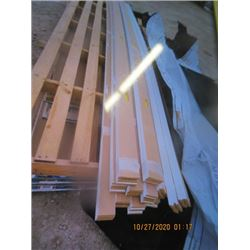 "48 Pcs White Door & Window Trim, 1/2"" x 4"" x 14' & 5/8"" x 3"" x 14' - One Money For All!"
