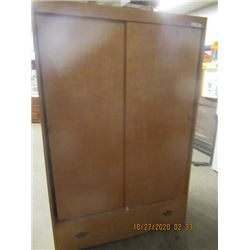 "Wardrobe Closet w Bottom Drawer 72""H 48""W 23"" D"
