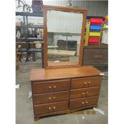 "Dresser w Mirror  30""H 48""W 17"" D Plus Mirro 421"" x 29"""
