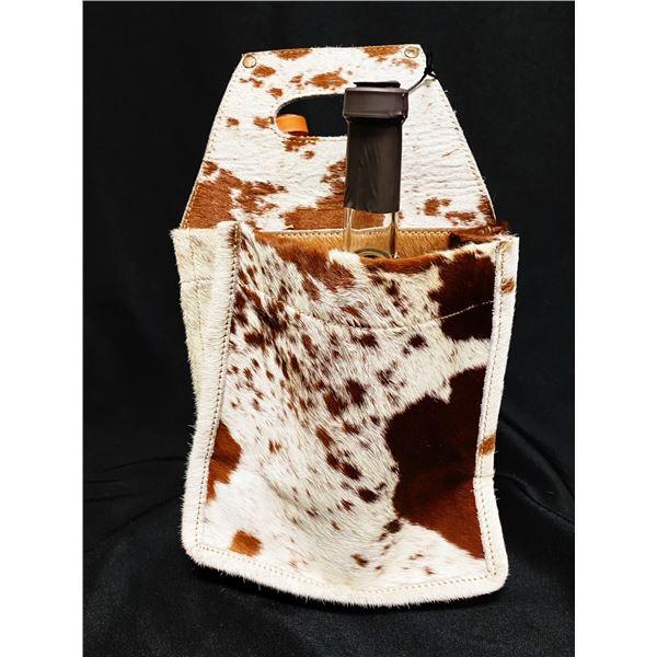 Myra cowhide beverage carrier