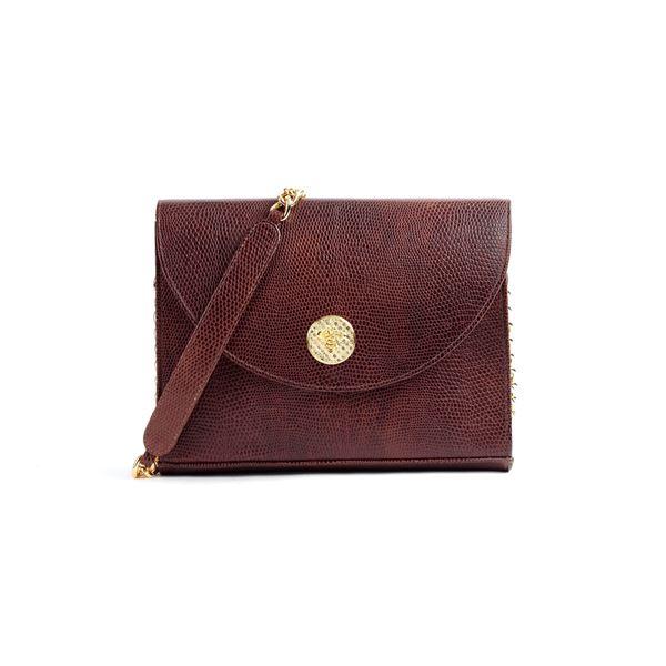 Fedha Nyuki Embossed Leather Handbag